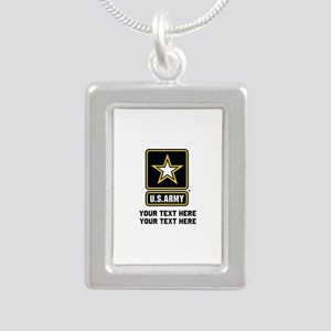US Army Star Silver Portrait Necklace