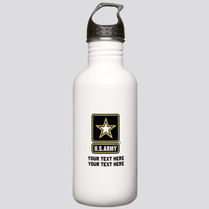 US Army Star Stainless Water Bottle 1.0L
