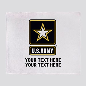 US Army Star Throw Blanket