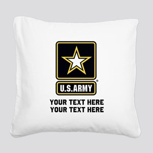 US Army Star Square Canvas Pillow