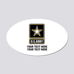US Army Star 20x12 Oval Wall Decal