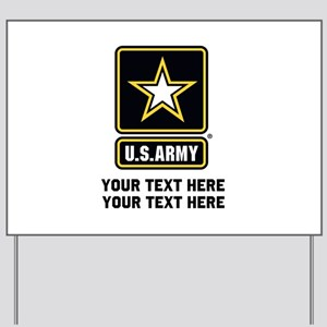 US Army Star Yard Sign