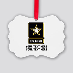 US Army Star Picture Ornament
