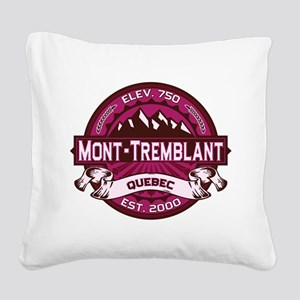 Mont-Tremblant Raspberry Square Canvas Pillow