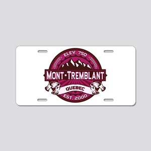 Mont-Tremblant Raspberry Aluminum License Plate