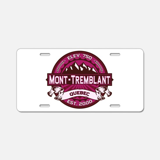Mont-Tremblant Raspberry Aluminum License Plate