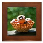 Persimmon Basket Framed Tile