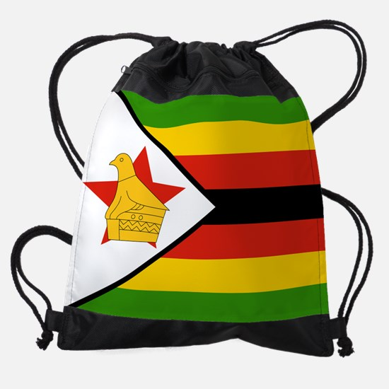 Zimbabwe Flag Drawstring Bag