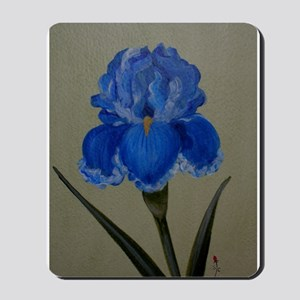StephanieAM Blue Iris Mousepad