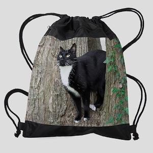 July kitty Drawstring Bag