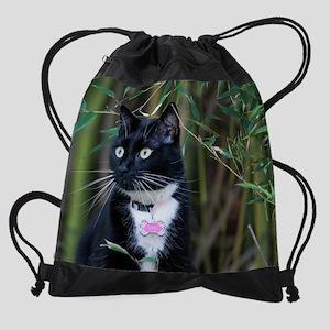 September kitty Drawstring Bag