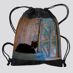 November kitty Drawstring Bag