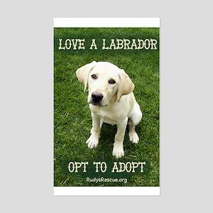 Love A Labrador Rectangle Sticker
