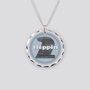 2 Steppin' Necklace Circle Charm