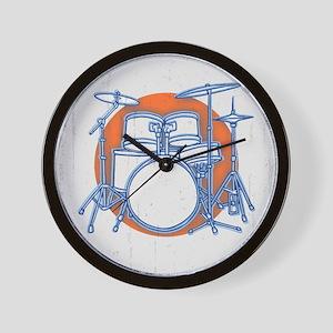 Offset Drum Kit Wall Clock