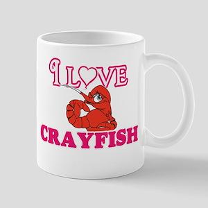 I Love Crayfish Mugs