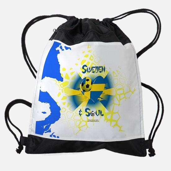 Swedish Soccer Soul Drawstring Bag