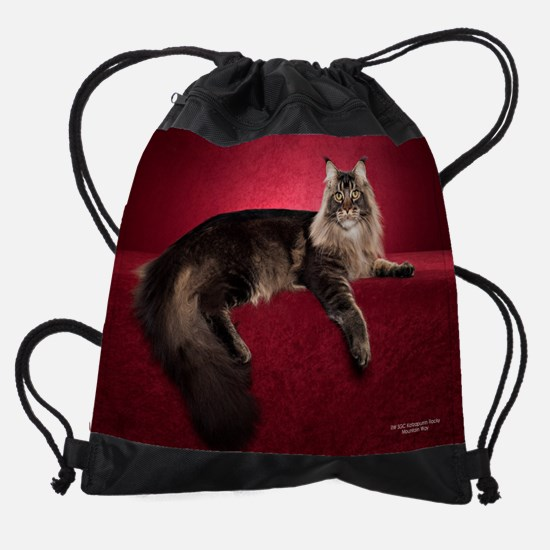Maine Coon Cats Drawstring Bag
