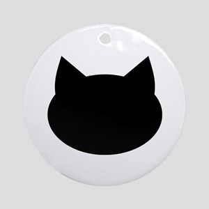 Cat head Ornament (Round)