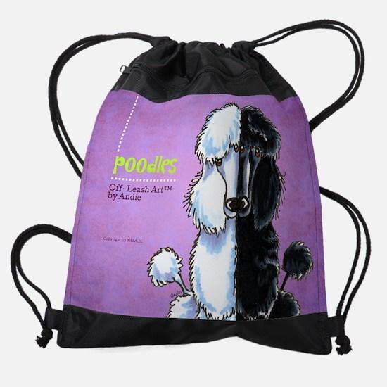 Poodles Off-Leash Art™ Vol 1 Drawstring Bag