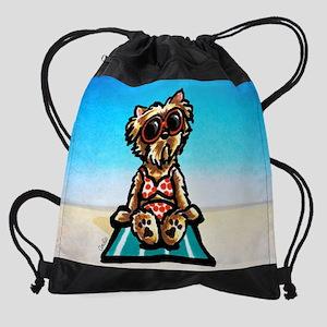 Yorkie Beachside Drawstring Bag