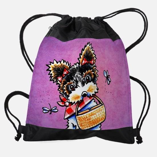 Biewer Yorkie Picnic Drawstring Bag