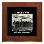 Fort Lincoln Civil War Infantry Framed Tile