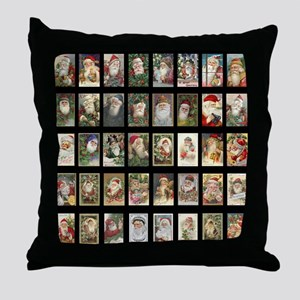 Vintage Santas Throw Pillow