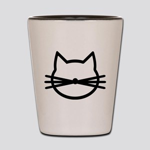 Cat head face Shot Glass