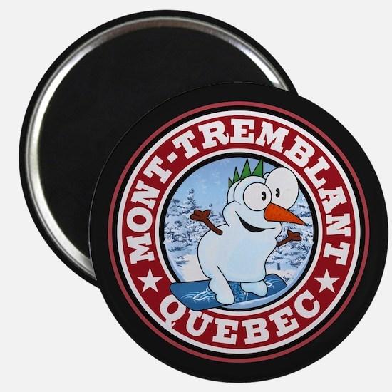 Mont-Tremblant Snowman Circle Magnet
