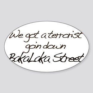 Bakalaka Street Oval Sticker