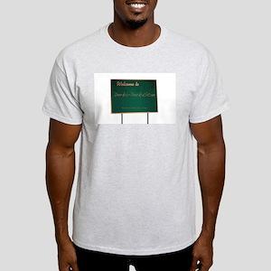 Welcome to Derka-Derkastan Ash Grey T-Shirt