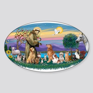 StFrancis-Dogs-Cats-Horse Sticker