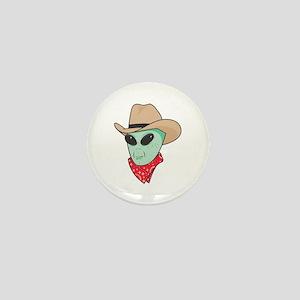 Cowboy Alien Mini Button