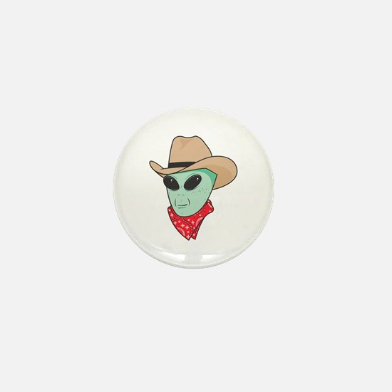 Cowboy Alien Mini Button