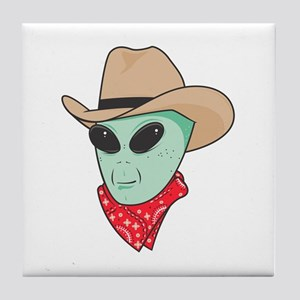 Cowboy Alien Tile Coaster