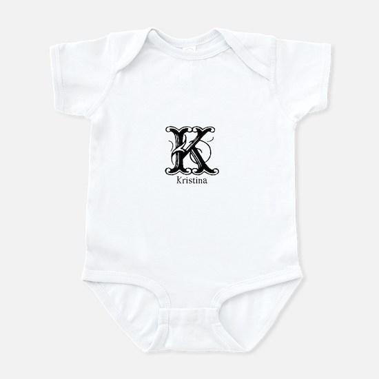 Kristina: Fancy Monogram Infant Bodysuit