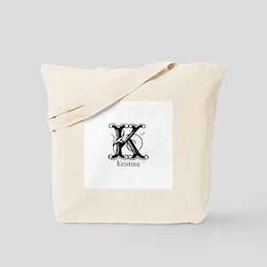 Kristina: Fancy Monogram Tote Bag