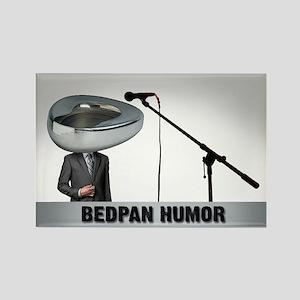 Bedpan Humor Rectangle Magnet