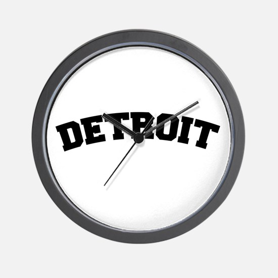 Detroit Black Wall Clock