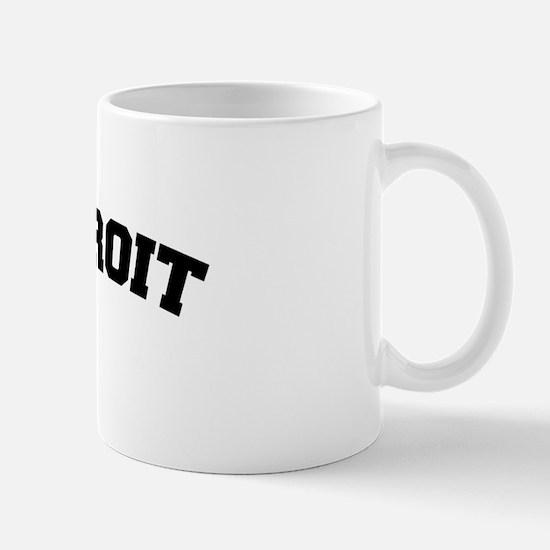 Detroit Black Mug