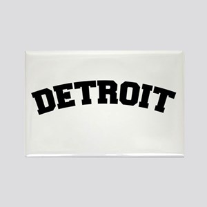 Detroit Black Rectangle Magnet