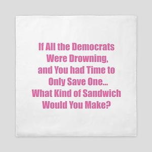 Democrat Sandwich Queen Duvet