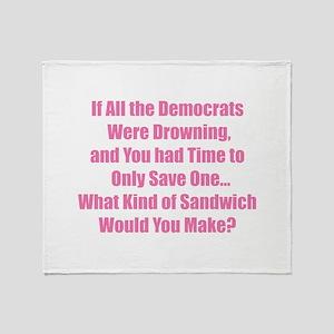 Democrat Sandwich Throw Blanket