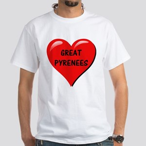 great pyrenees heart T-Shirt