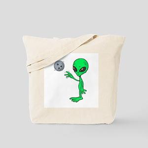 Bowling Alien Tote Bag