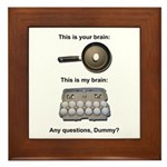 This Is Your Brain Framed Tile