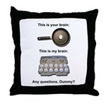 This Is Your Brain Throw Pillow