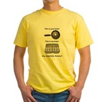 This Is Your Brain Yellow T-Shirt