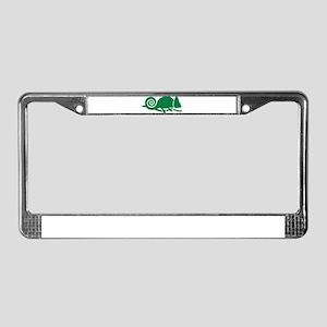 Chameleon License Plate Frame